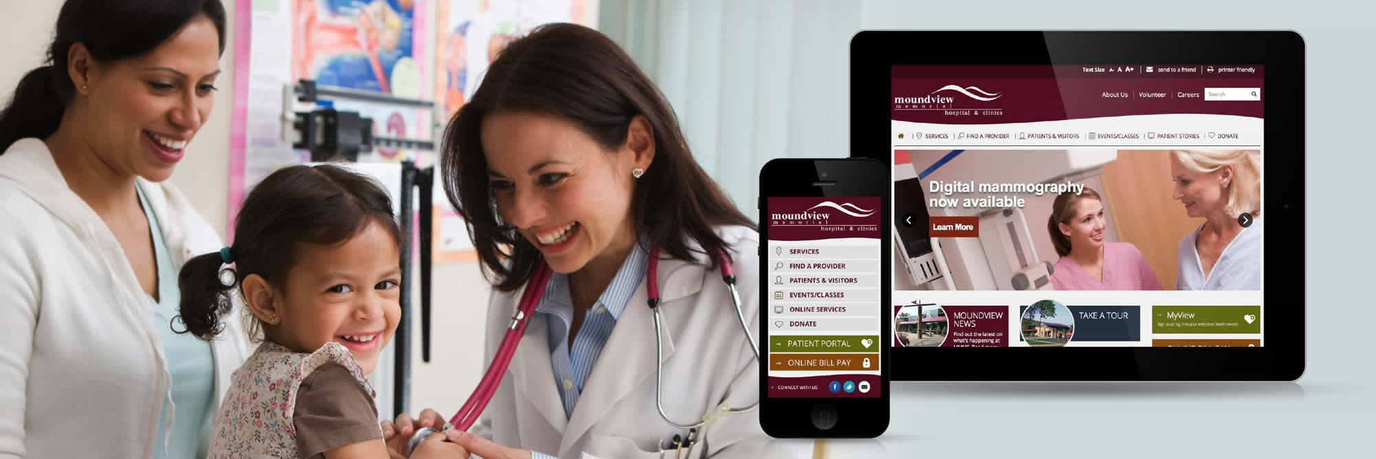 Moundview Memorial Hospital Web Design
